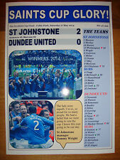 St Johnstone 2 Dundee United 0 - 2014 Scottish Cup final - souvenir print