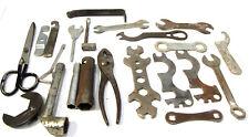 LOT: Vintage Flat Wrenches Power Tool Bicycle Motorcycle Kit +etc Art Scrap Junk