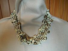 Necklace Cream and copper coloured shells 22""
