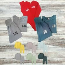 Childrens Personalised Lounge Set with Initials Boys Girls Tracksuit Set