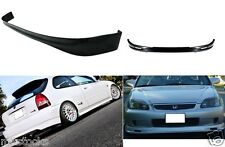 1999-2000 CIVIC HATCHBACK 3 DOOR PU BLACK ADD-ON FRONT + REAR BUMPER LIP SPOILER