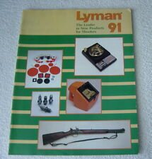 LYMAN 1991 GUN SCOPE RELOADING TOOLS SHOOTING SUPPLIES CATALOG