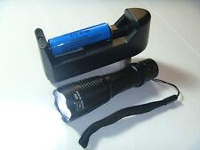 180 lumen Mini Tatical Cool White LED Flashlight Torch (14500 Battery+Charge)