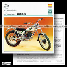 #031.03 OSSA 250 MAR MICK ANDREWS REPLICA 70's Trial Fiche Moto Motorcycle Card
