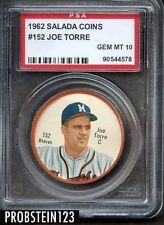 1962 Salada Tea Coin Junket #152 Joe Torre Braves PSA 10 GEM MINT POP 2 ONLY