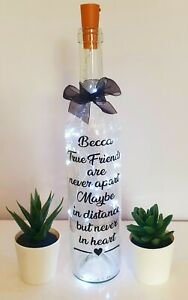 LED Light Up Bottle Personalised Gift for Friends ideal Christmas/Birthday