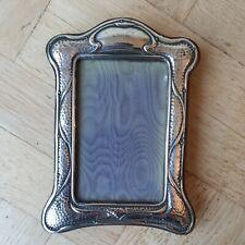 More details for beautiful  antique 1911 art nouveau 14cm x 9cm hallmarked silver photo frame