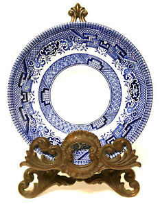 "Churchill England Blue Willow 5.5"" Saucer Blue & White China"