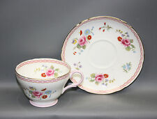 SHELLEY ROSE & RED DAISY HENLEY SHAPE CUP & SAUCER WITH ROSEPRAY INTERIOR VTG