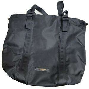 Timbuk2 Parcel Tote Bag Black with Gold Zipper Used In Good Condition