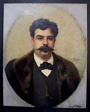 Theodore LEVIGNE Autoportrait  XIX Portrait du Peintre 19th Personnage