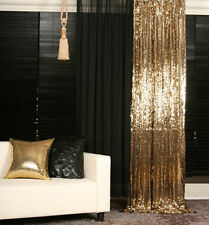 2PCS 4ftx6.5ft Gold Sequin Backdrop,Sequin Photography Backdrops Photo Booth