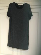 WAREHOUSE BLACK SILVER SPARKLY STRETCH SHIFT DRESS SIZE 10