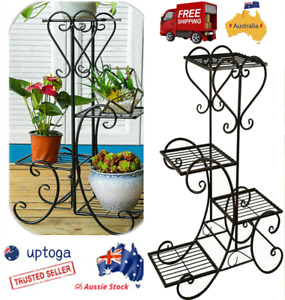 Antique Outdoor Indoor 4Tire Plant Stand Shelf Home&Garden Flower Rack 82cm High