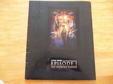 Star Wars Film:The Phantom Menace Episode#1 1999 Official Movie Program Souvenir