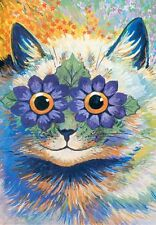 Vintage Repro Postcard: Smiling Cat / Kitty - India cat - Louis Wain