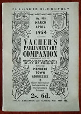 More details for vachers parlimentary companion no. 903 house of lords & commons march april 1954