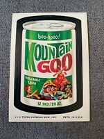 """1973 Topps Wacky Packages Series """"Mountain Goo"""" VG/EX **"""
