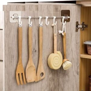 Kitchen Tool Hanging Rack Hook Organizer Management Adhesive Wall Adhesive Stick