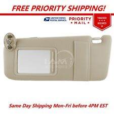 NEW Sun Visor LEFT TAN Driver Side for 07-11 Toyota Camry WITHOUT SUNROOF
