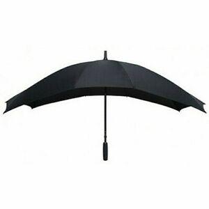 Umbrella Duo Brolly Black Double Size Couples Honeymoon Wedding Large Canopy NEW