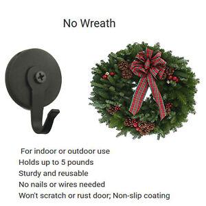 Magnetic Metal Wreath Hanger Over The Door Wreath Metal Hook For Christmas Front