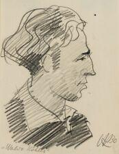 H.KOHLMANN (*1907), Porträt des Künstlers Waldo Köhler, 1930, Bleistiftzchng