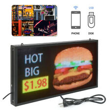 """27""""x14"""" Full Color Led Sign Scrolling Message Display Business Signs 128×64/flat"""