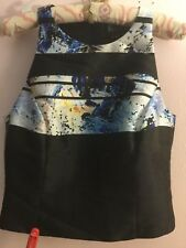 NWT Noir Sachin & Babi Edvard Jet  Cropped Twill Printed Top Multicolored Blouse