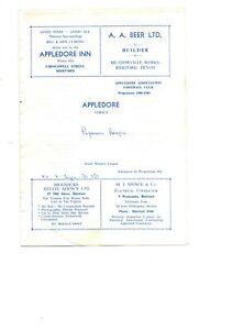 Appledore v Plymouth Argyle Res 1980 - 1981