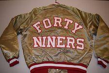 vtg San Francisco 49ers Chalk Line Satin Baseball Jacket Med/Lg Large starter