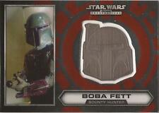 "Star Wars Chrome Perspectives - #8 of 30 Silver Helmet Medallion ""Boba Fett"""