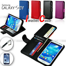 FULL LEATHER WALLET CASE COVER SAMSUNG Galaxy S4