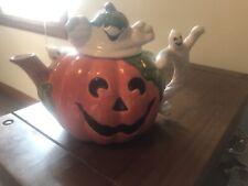 Fitz Floyd Jackolantern and Ghosts Teapot, 1996
