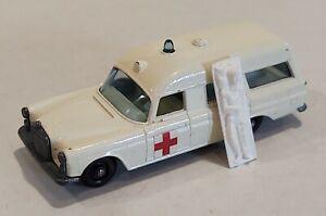 3-C EXC/Near MINT!! Mercedes Ambulance & Stretcher Lesney Matchbox circa '68