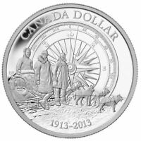 2013 99.99% FINE SILVER $1 CANADA 100th ANNIVERSARY CANADIAN ARCTIC EXPEDITION