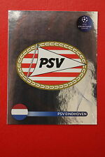 PANINI CHAMPIONS LEAGUE 2008/09 # 417 PSV EINDHOVEN BADGE BLACK BACK MINT!