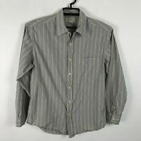 J. Crew Dress Shirt Mens Size M Blue Green Beige Long Sleeve Cotton Button Front