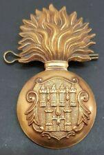 Royal Dublin Fusiliers Glengarry Grenade Cap Badge