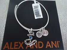 ALEX and ANI ANCHOR III Rafaelian Silver Finish Bangle New W/ Tag Card & Box