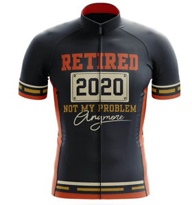 Retired 2020 Not My Problem Anymore Cycling Jersey