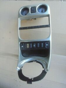 mgf tf console trim in silver with clocks and switches