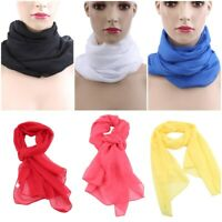 Solid Color Girls Long Scarf Women's Chiffon Scarf Soft For Spring Summer New HS