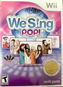 We Sing Pop Nintendo Wii Video Game karaoke music lady gaga rihanna adele