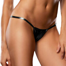 Women Metallic Wet Look Bodycon Short Micro Mini Skirt Evening Party Clubwear
