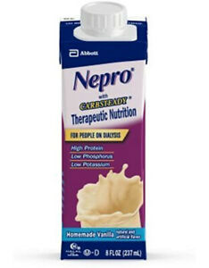 Nepro Carb Steady Shake Homemade Vanilla, 8 fl oz, 12 Count