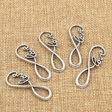 5pcs Love Charm Silver Pendant DIY Jewelry Making for Bracelet Necklace Alloy