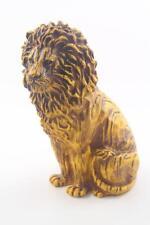 Vintage Mid Century 1972 Homco Harvest Gold Chalkware Resin Lion Statue #222