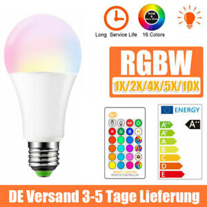 E27 10W RGB Bunte LED Birne Farbwechsel Lampe Glühbirne Licht + Fernbedienung