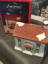 Vintage Americana Porcelain Christmas Collectible - Law Office Lighted with Box